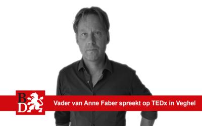 Vader van Anne Faber spreekt op TEDx in Veghel: 'Ik wil mijn gedachten over een rechtvaardige straf bespreken'